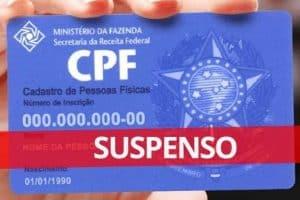 CPF suspenso