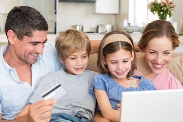 cartão de crédito para crianças